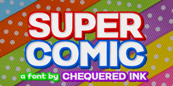 Super Comic Font poster