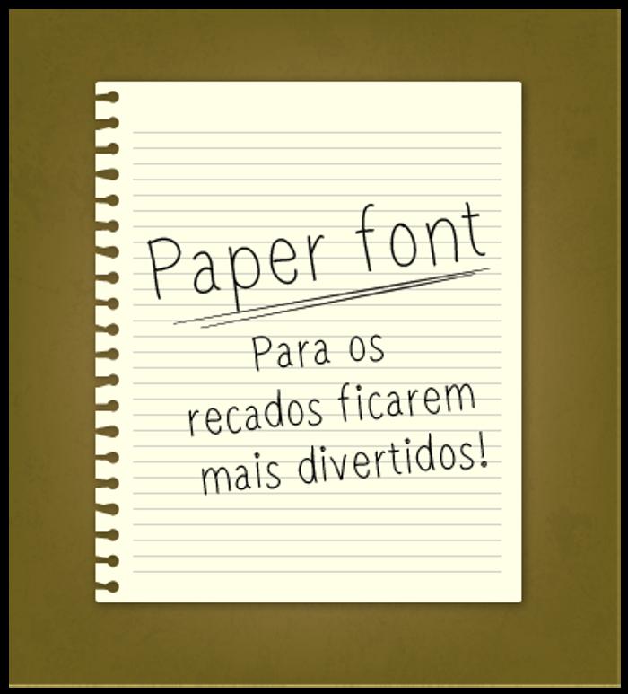 paper Font poster