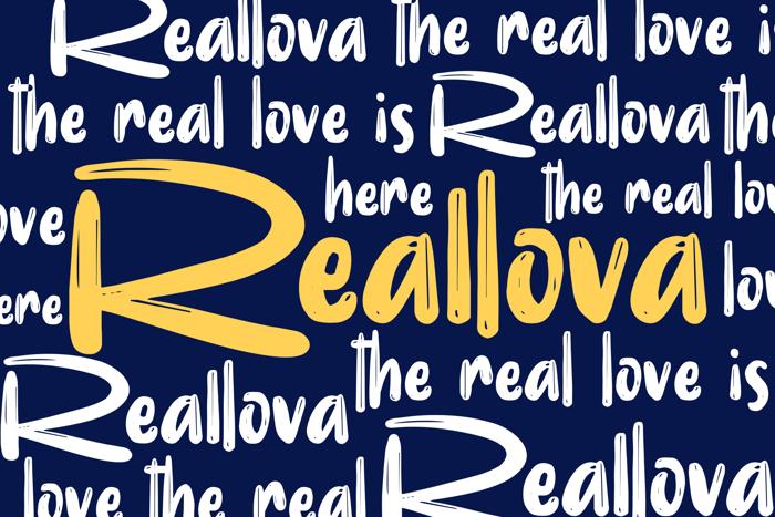 Realova Font poster