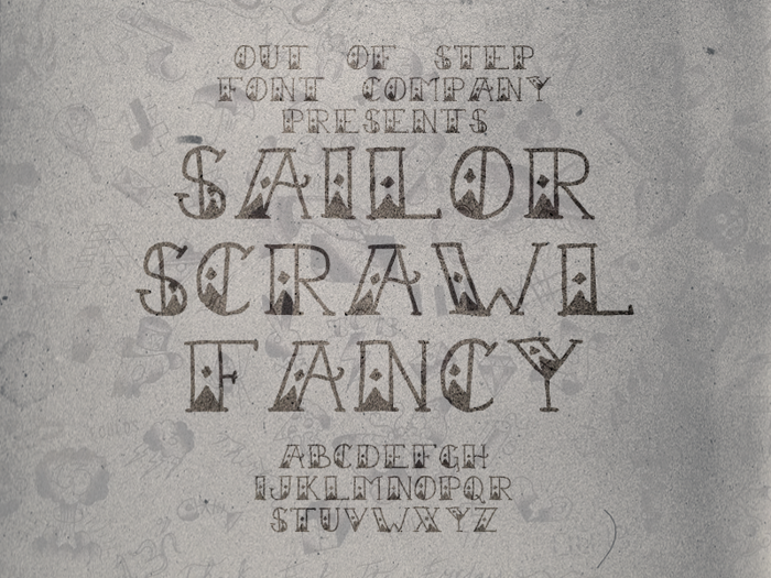 Sailor Scrawl Fancy Font