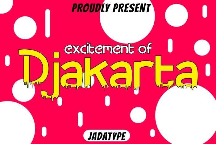 Djakarta Font poster