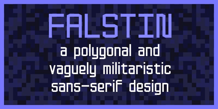 Falstin Font poster