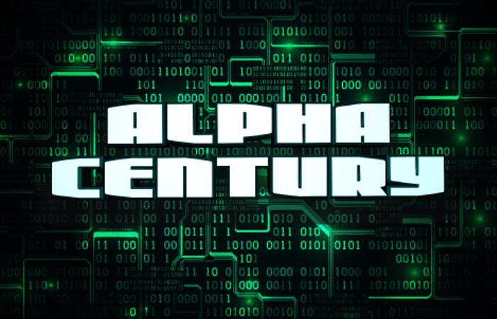 Alpha Century Font poster