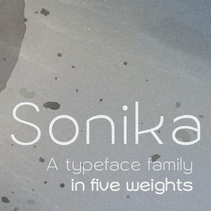 Sonika Font poster