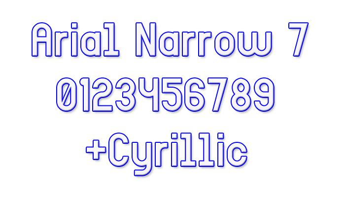 Arial Narrow 7 Font poster