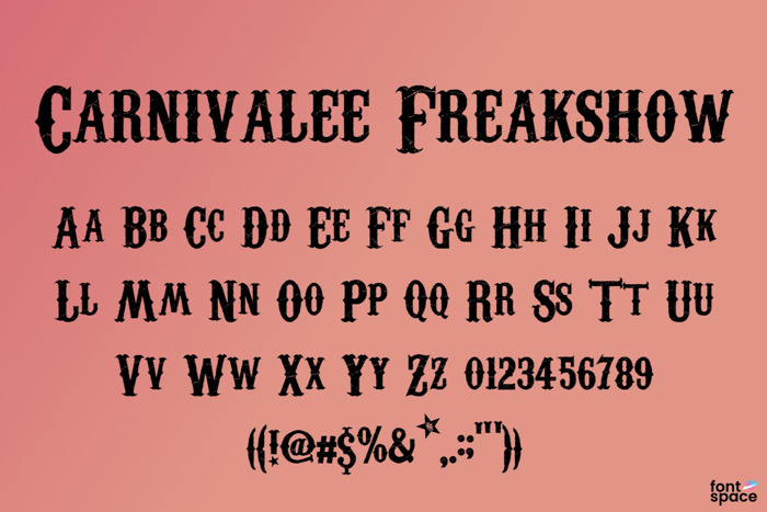 Carnivalee Freakshow Font poster