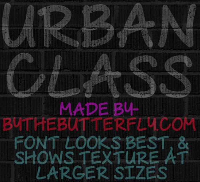 Urban Class Font poster