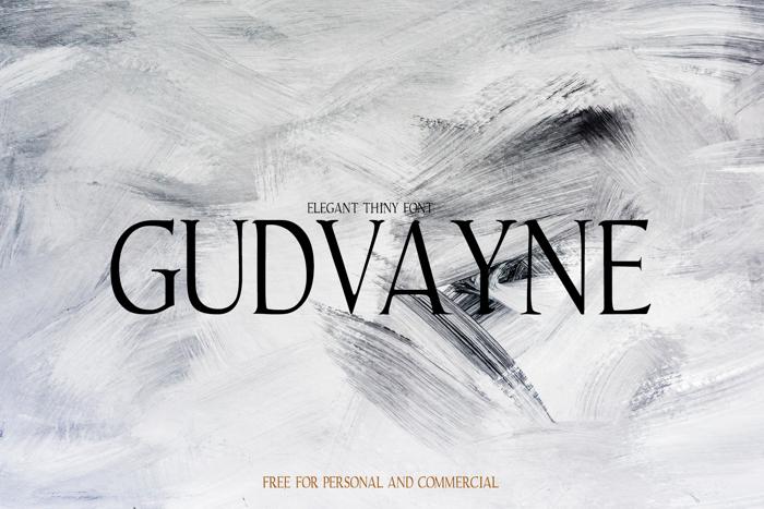 Gudvayne Font poster