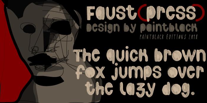 Faustpress Font poster