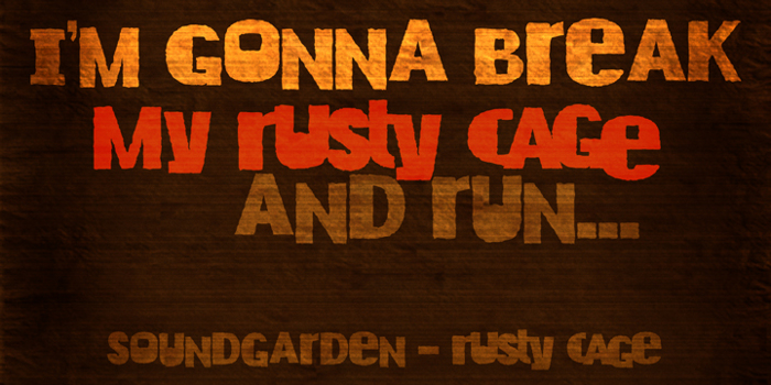 DK Rusty Cage Font poster