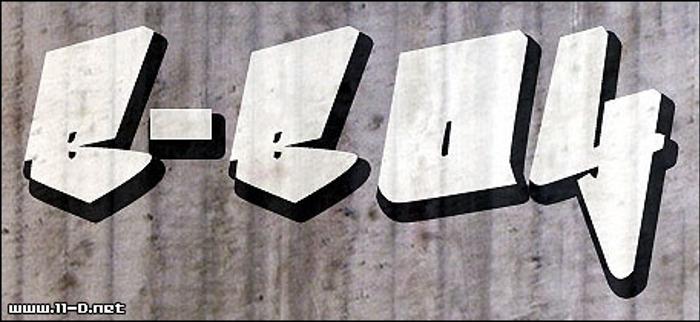 Bboy Font poster