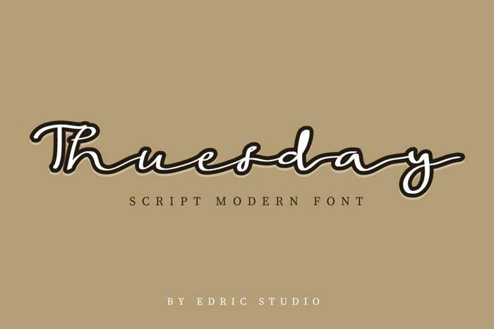 Thuesday Font poster