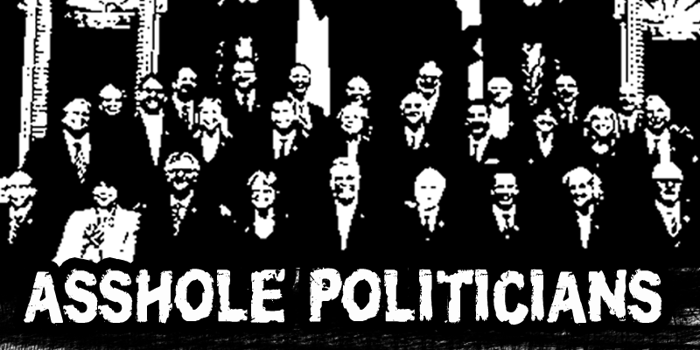 CF Asshole Politicians Font poster