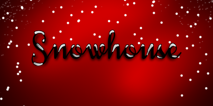Snowhouse DEMO Font poster