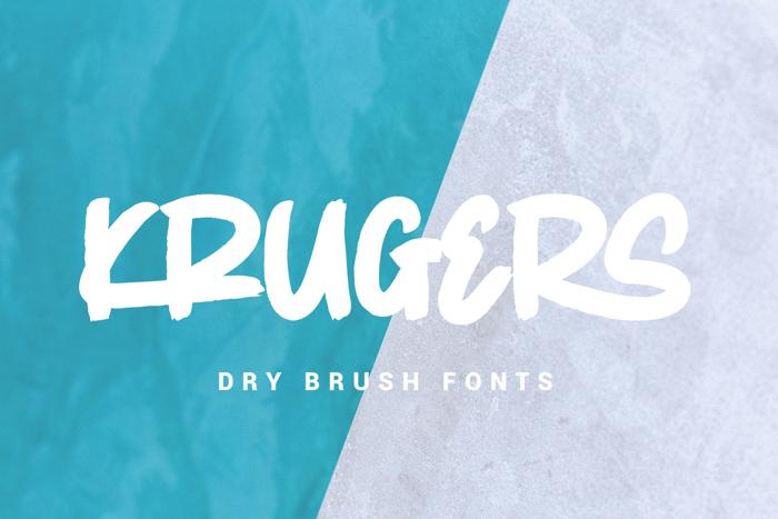Krugers Font poster