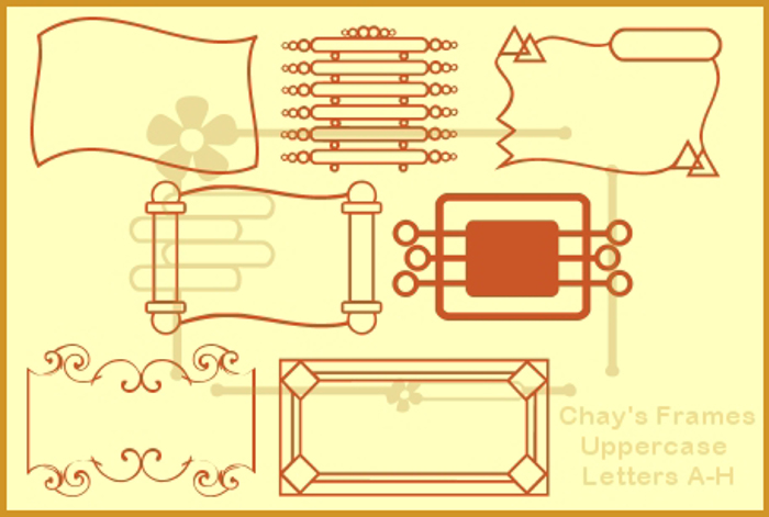 Chay's Frames Font poster