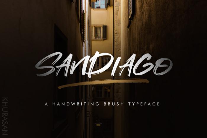 Sandiago Font poster