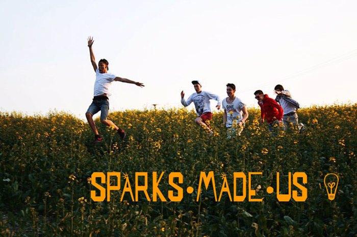 SPARKS MADE US Font poster
