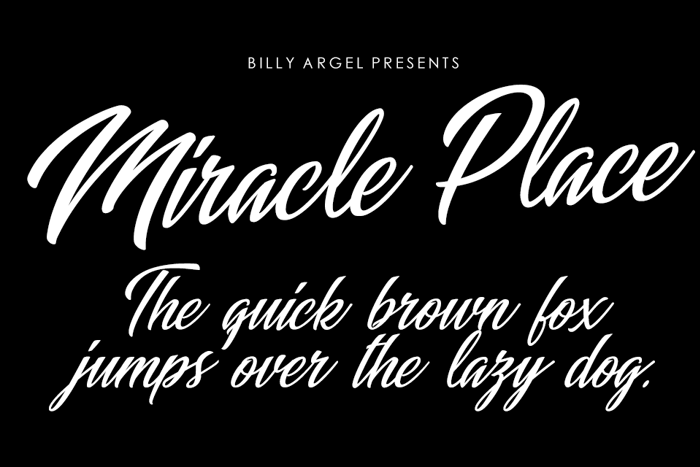 Miracle Place Font poster