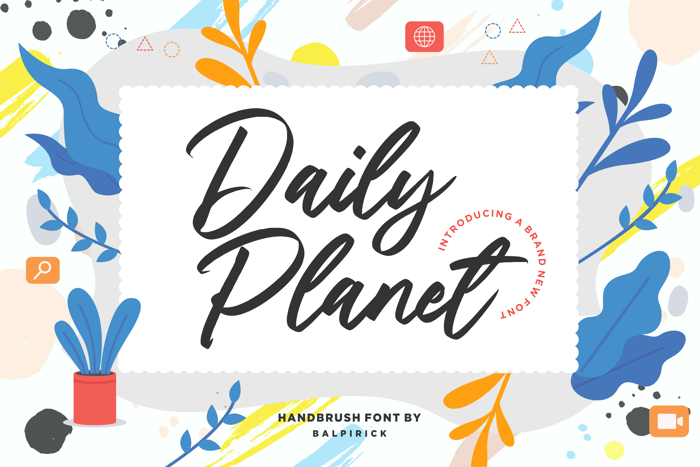 Daily Planet Font poster