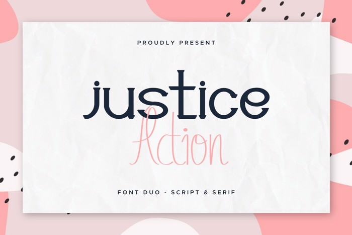 Justice Action Serif Font poster