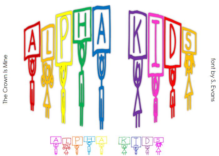 Alpha Kids Font poster