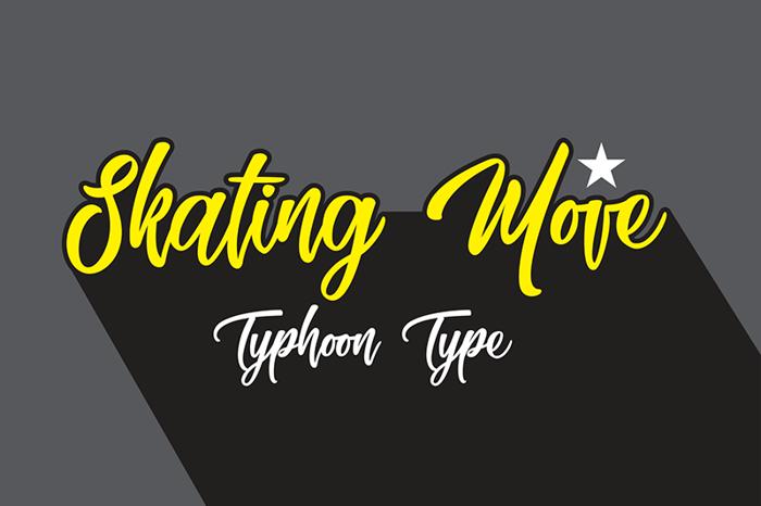 Skating Move Font poster
