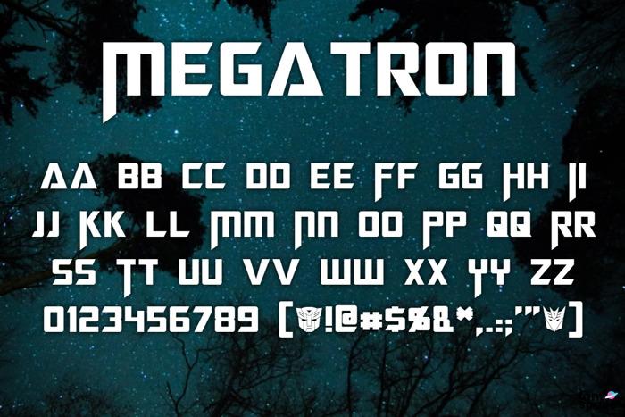 Megatron Font poster