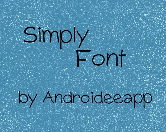 Simply Font poster