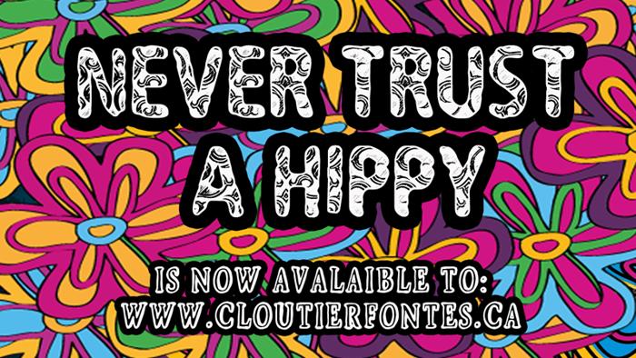 CF Never Trust A Hippy Font poster