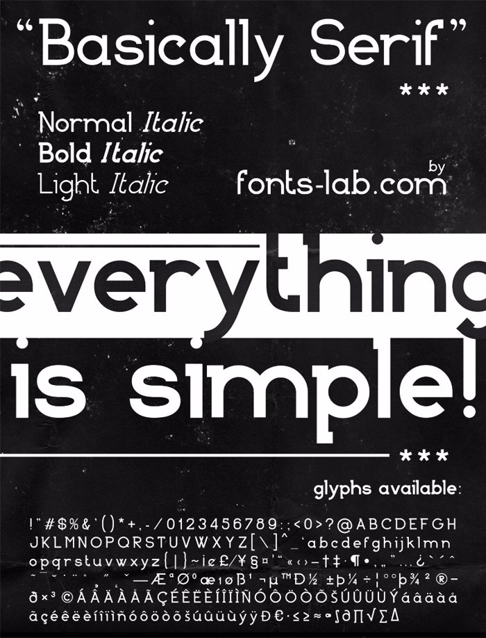 Basically Serif Font poster