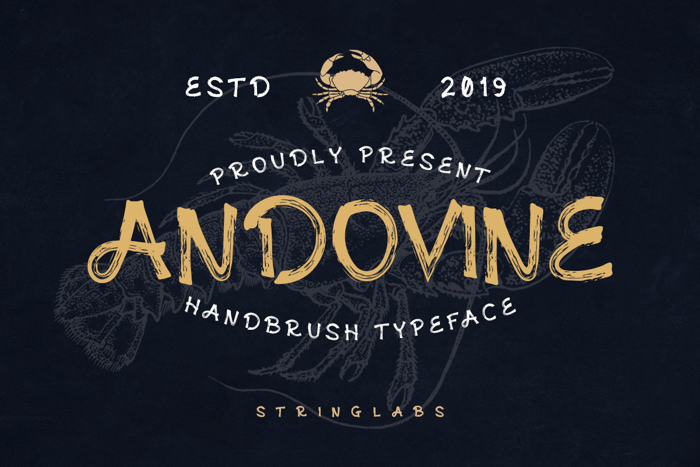 Andovine Font poster