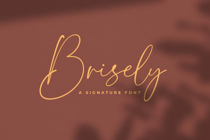 Brisely Font poster