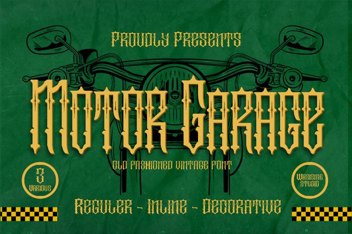 Motor Garage Font poster
