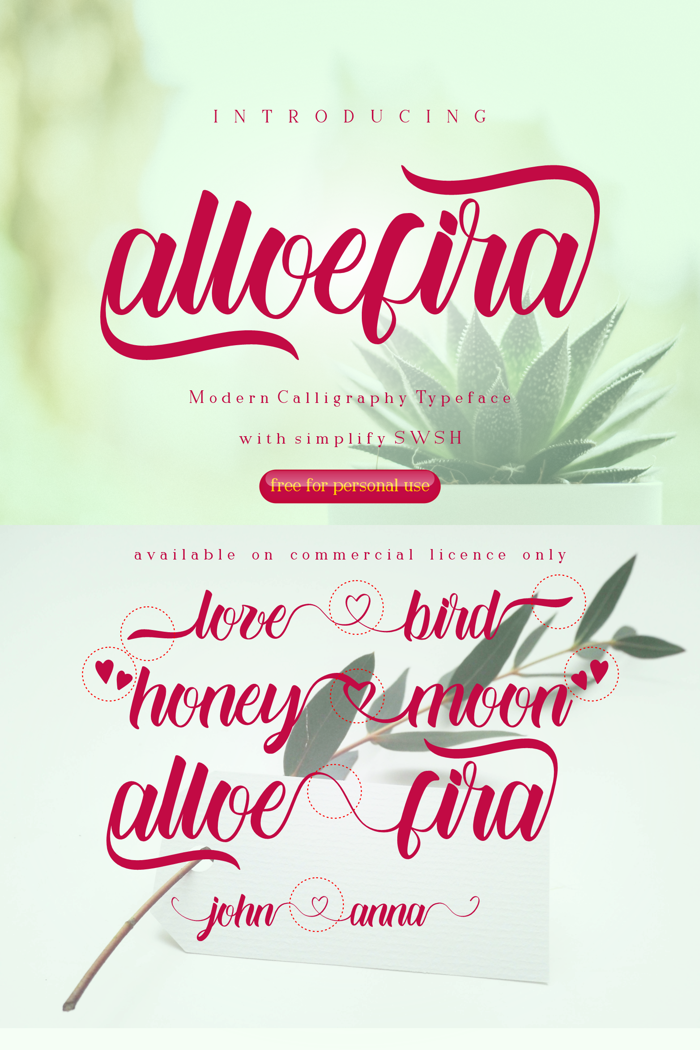 Alloefira free for personal Font poster