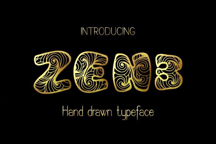 Zen3 Font poster