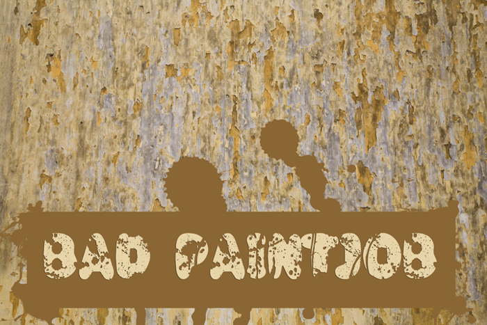 Bad Paintjob Font poster