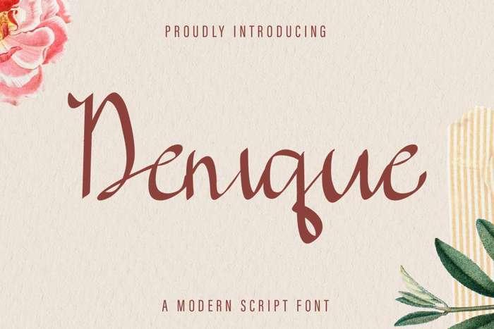 Denique Font poster