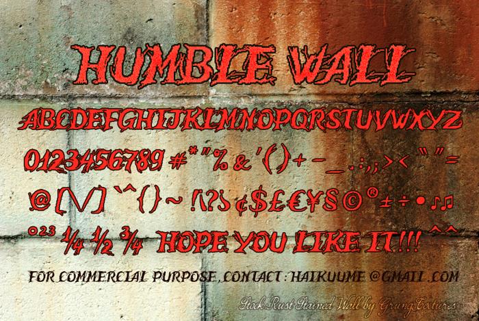 Humble Wall Font