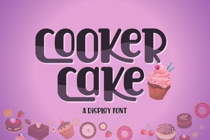 Cooker Cake Font poster