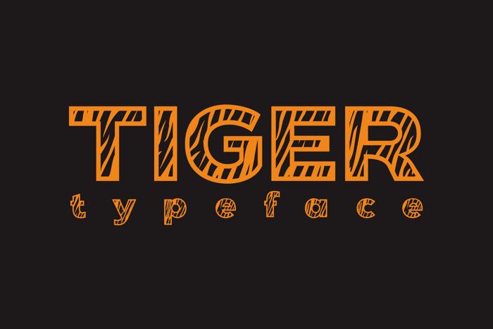 Tiger Font poster