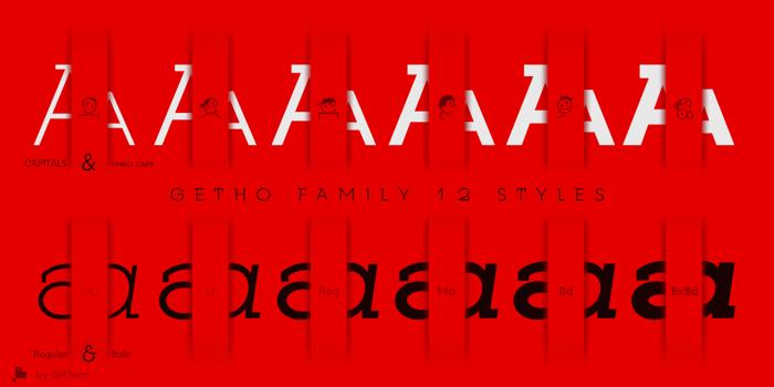 Getho Font poster