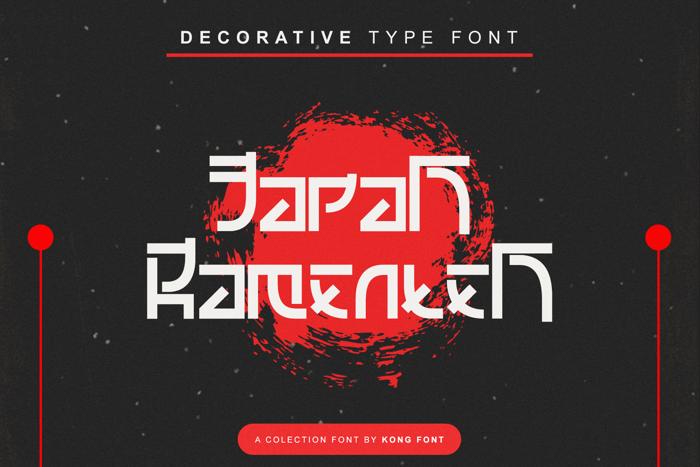 Japan ramenten Font poster