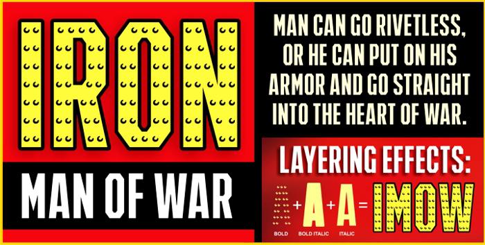 IRON MAN OF WAR Font