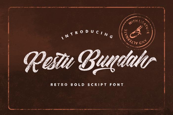 Restu Bundah Font poster