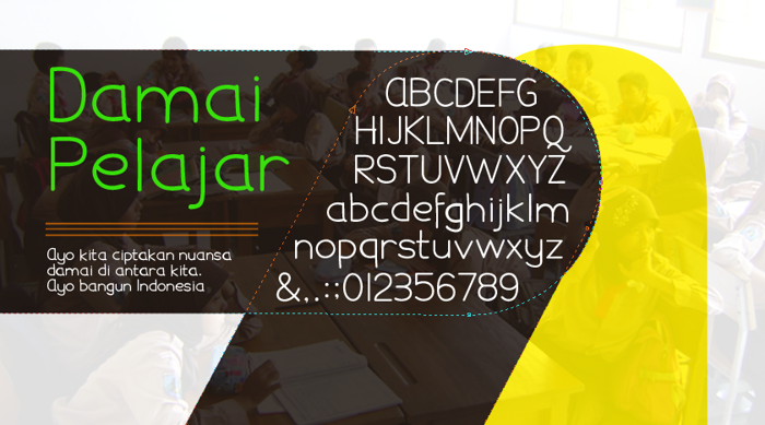 Damai Pelajar Font poster