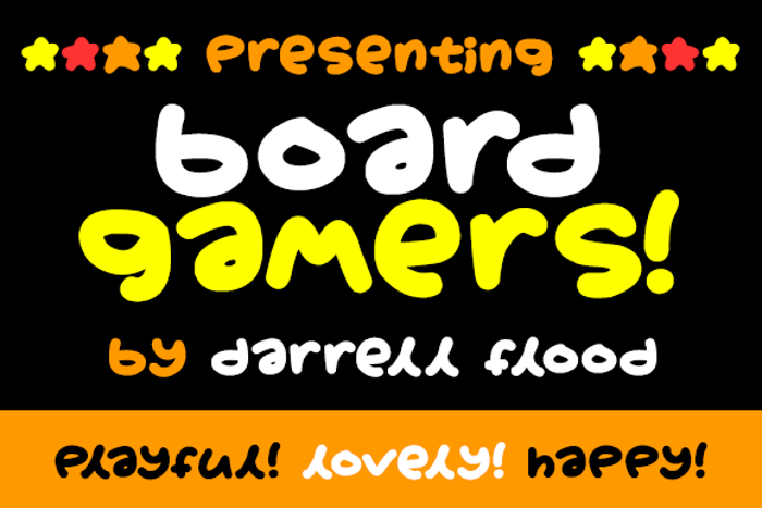 Boardgamers Font poster