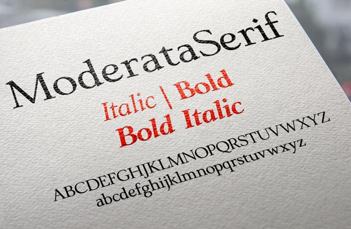 ModerataSerif Font poster