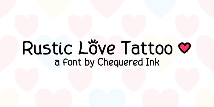 Rustic Love Tattoo poster