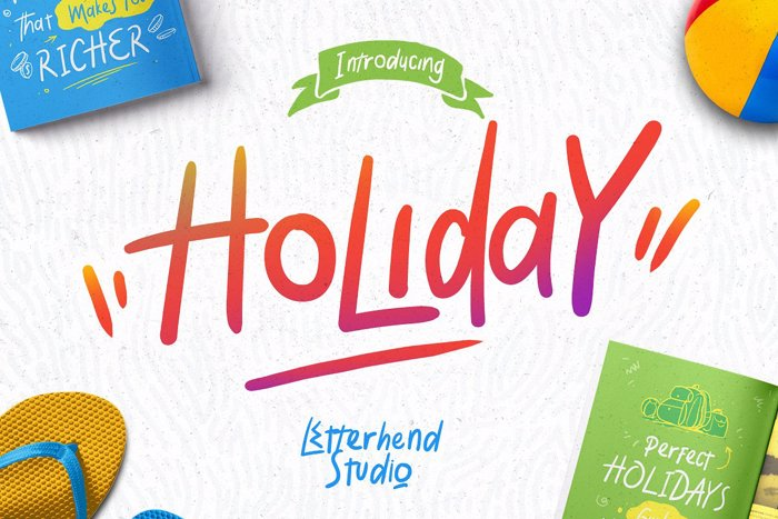 Holiday Font poster